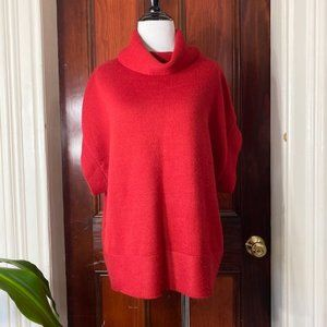 Coldwater Cr. red wool blend short sleeve sweater